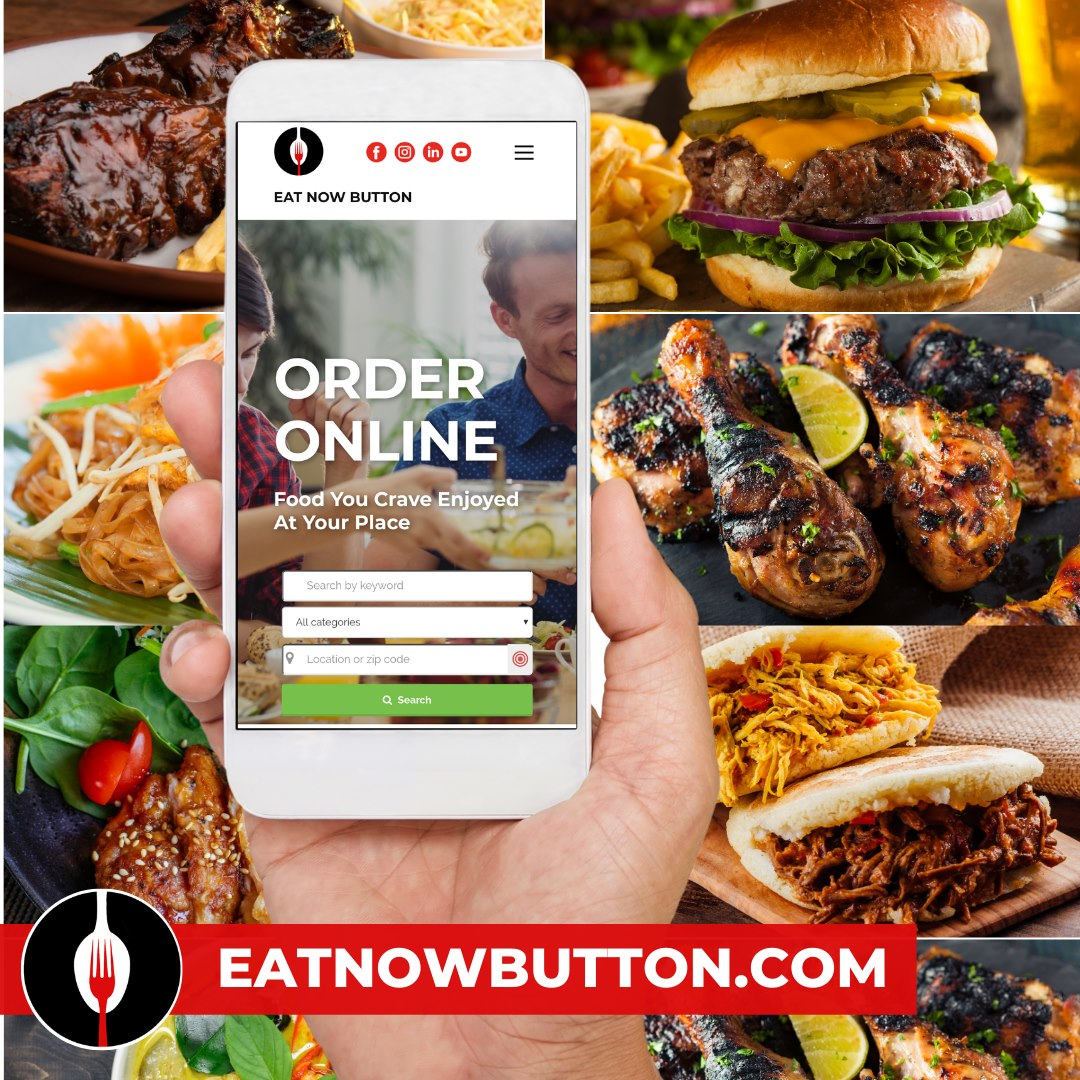 Online marketing Eat Now Button
