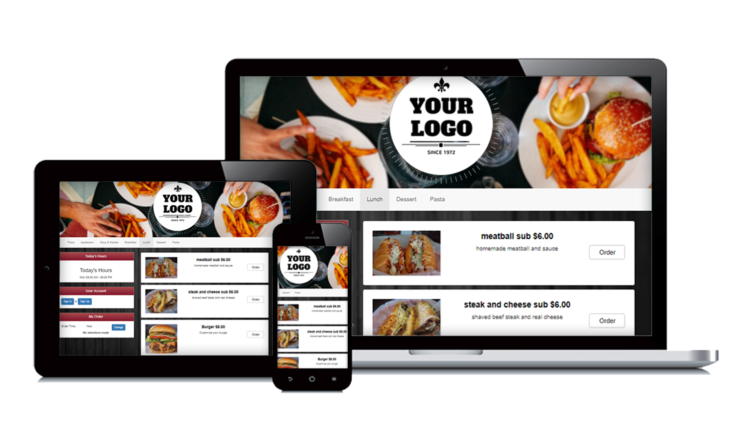 Takeout Button® mobile friendly ordering technology